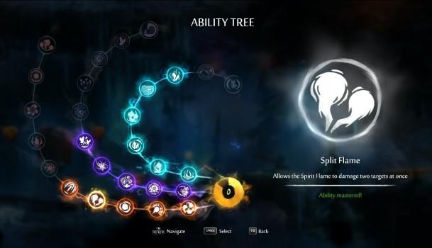 Voici l'arbre de competences du jeu.